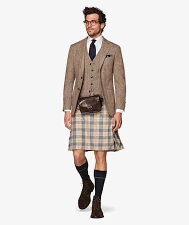 Jort Light Brown Kilt