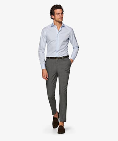 Grey_Brescia_Turn_Up_Slim_Fit_Trousers_B402SFI