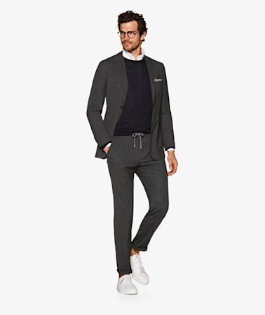 Dark Grey Ames Pleat Trousers