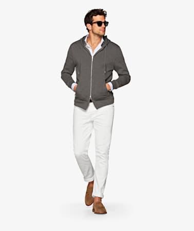 White 5 Pocket Alain Jeans