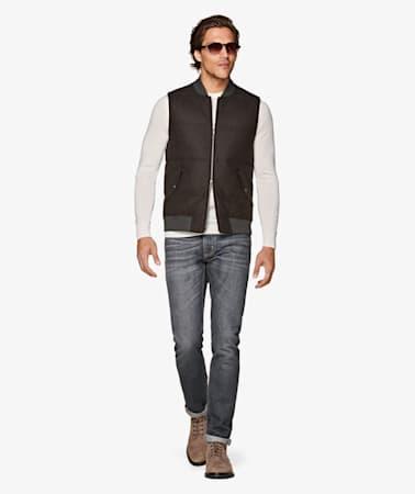 Grey 5 Pocket Alain Jeans
