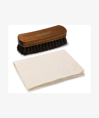 Shoe Brush & Cloth Set Black