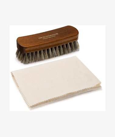 Shoe Brush & Cloth Set Brown