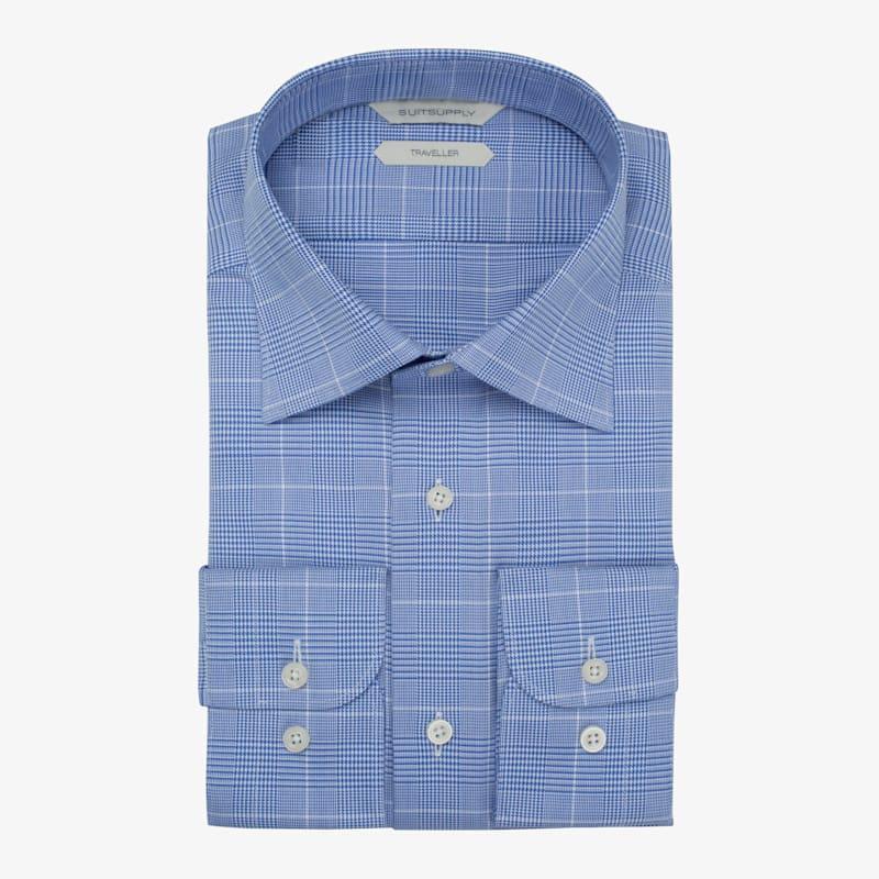 Blue_Check_Traveller_Shirt_Single_Cuff_H5791U
