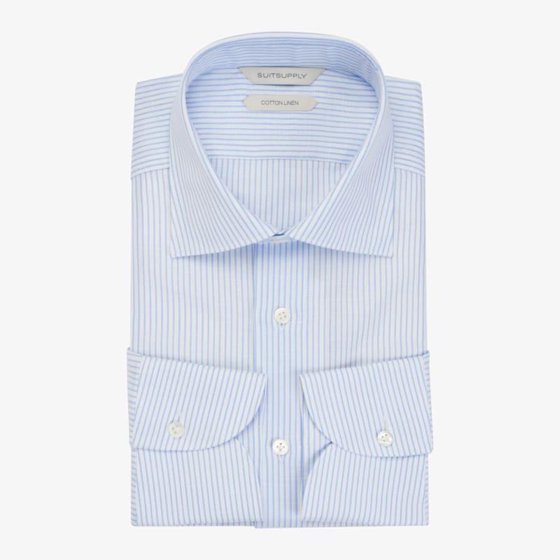Light_Blue_Stripe_Shirt_Single_Cuff_H5982BU