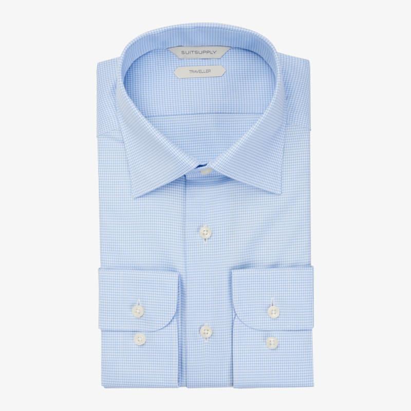 Light_Blue_Pied_De_Poule_Traveller_Shirt_Single_Cuff_H5991U