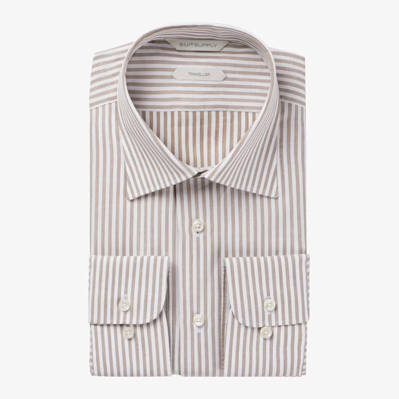 Brown_Stripe_Traveller_Shirt_Single_Cuff_H5992U