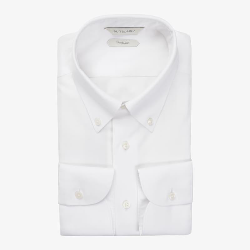 White_Traveller_Shirt_Single_Cuff_H6090U