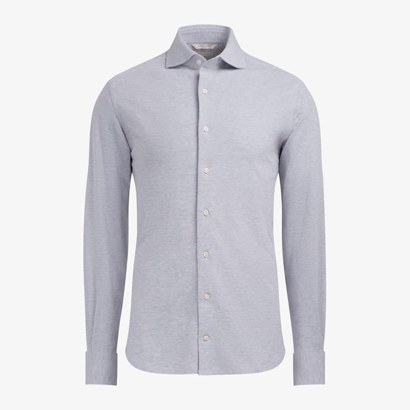 Grey_Knitted_Shirt_Single_Cuff_H6103ESF