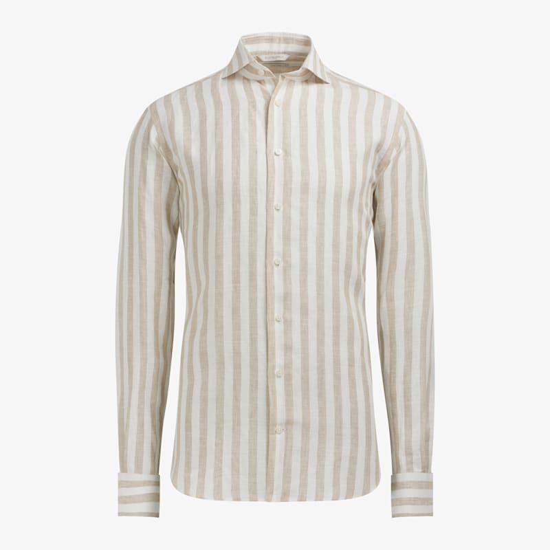 Brown_Stripe_Shirt_Single_Cuff_H6121