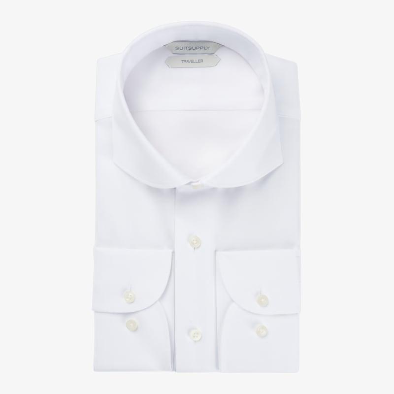 White_Oxford_Traveller_Shirt_Single_Cuff_H9017U