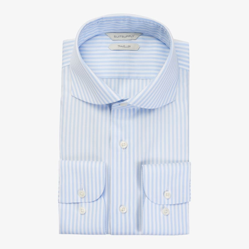 Light_Blue_Stripe_Traveller_Shirt_Single_Cuff_H9026U
