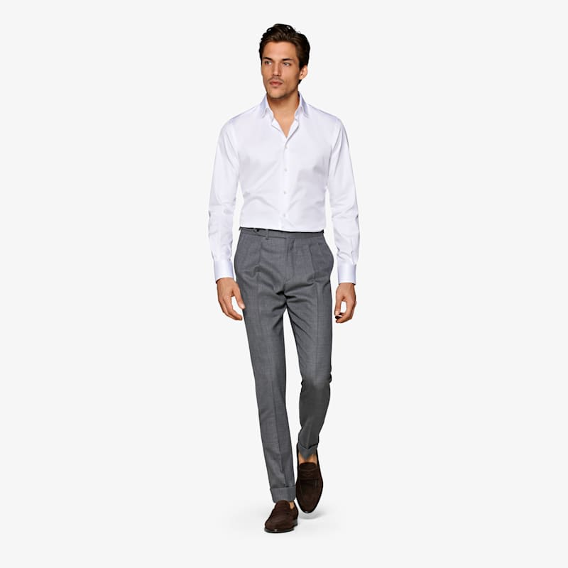 White_Twill_Shirt_Single_Cuff_H9090U