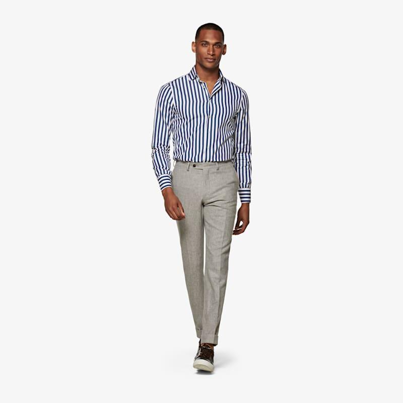 Jort_Navy_Stripe_Shirt_Single_Cuff_SH130B-J