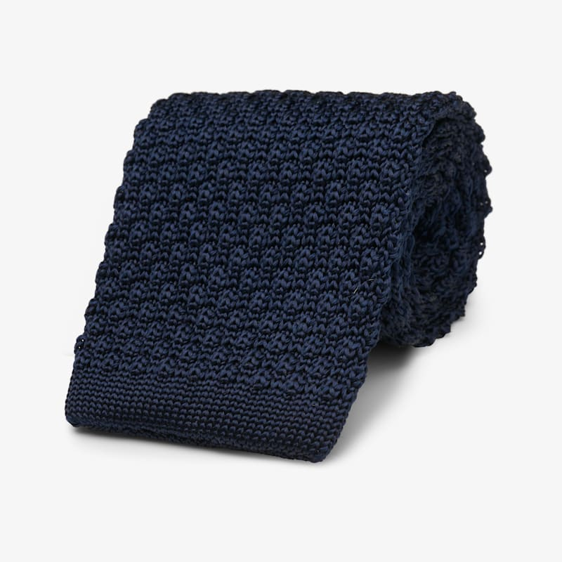 Navy_Knitted_Tie_D161104