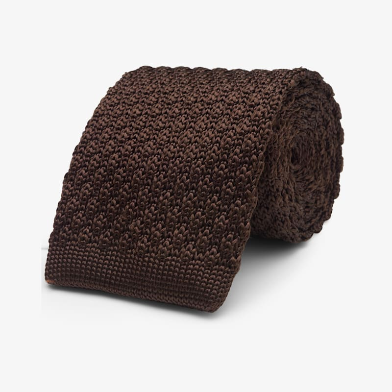 Brown_Knitted_Tie_D161106