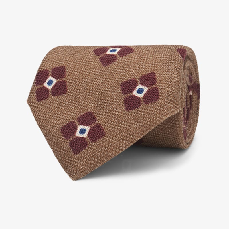 Brown_Flower_Tie_D192021