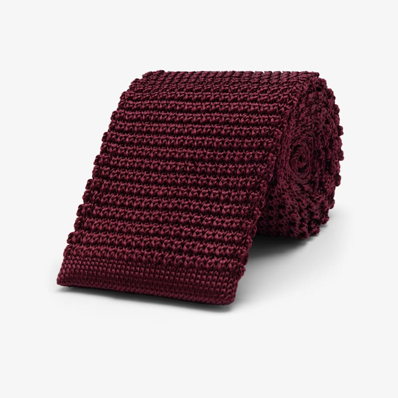 Burgundy_Knitted_Tie_D201063