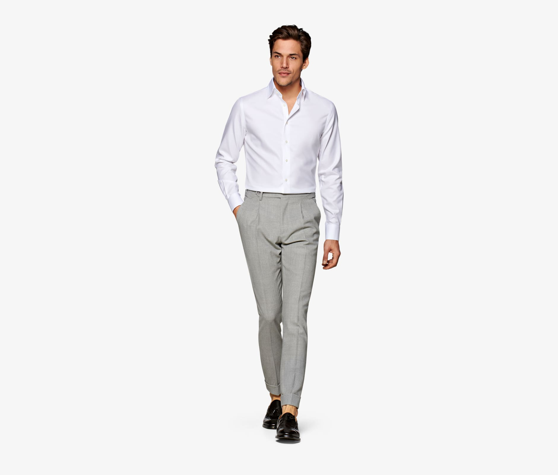 White_Traveller_Shirt_Single_Cuff_H9002U