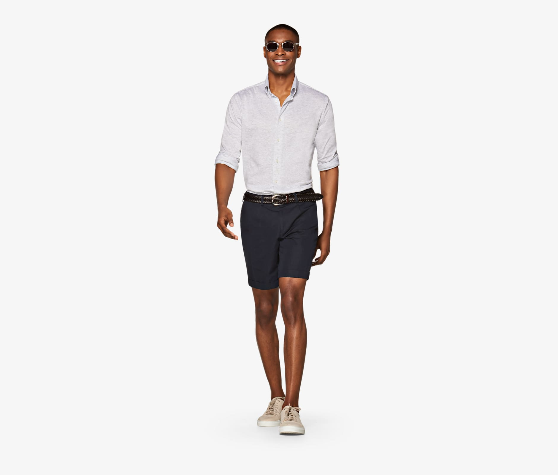 Navy_Bennington_Pleat_Shorts_B1023I