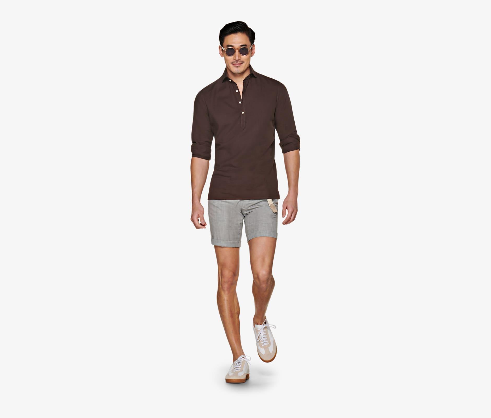 Light_Grey_Bennington_Pleat_Shorts_B1121I