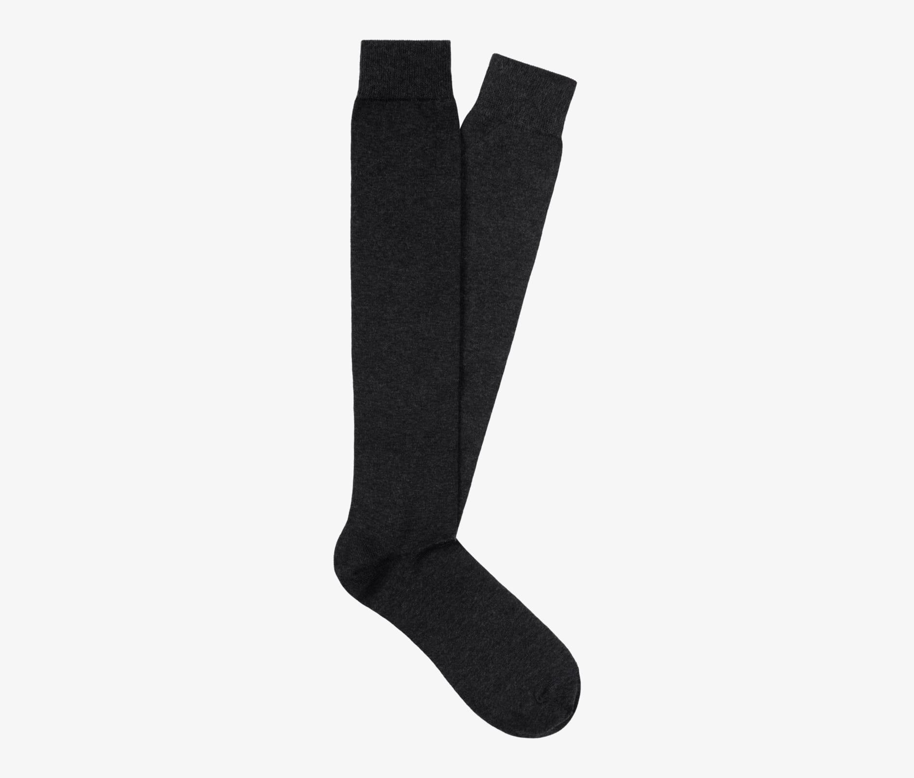 Dark_Grey_Knee_high_Socks_O607