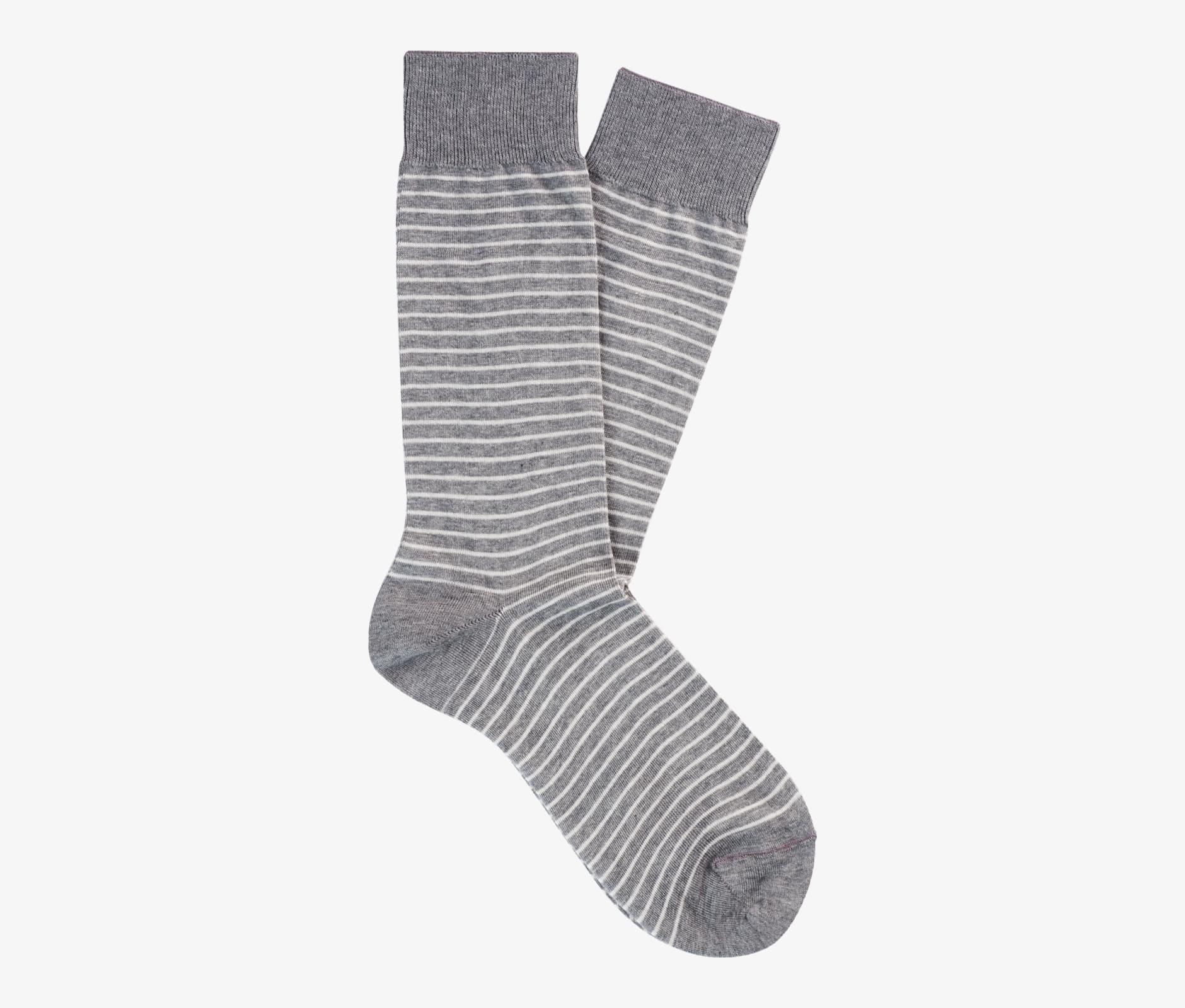 Grey_Regular_Socks_O757