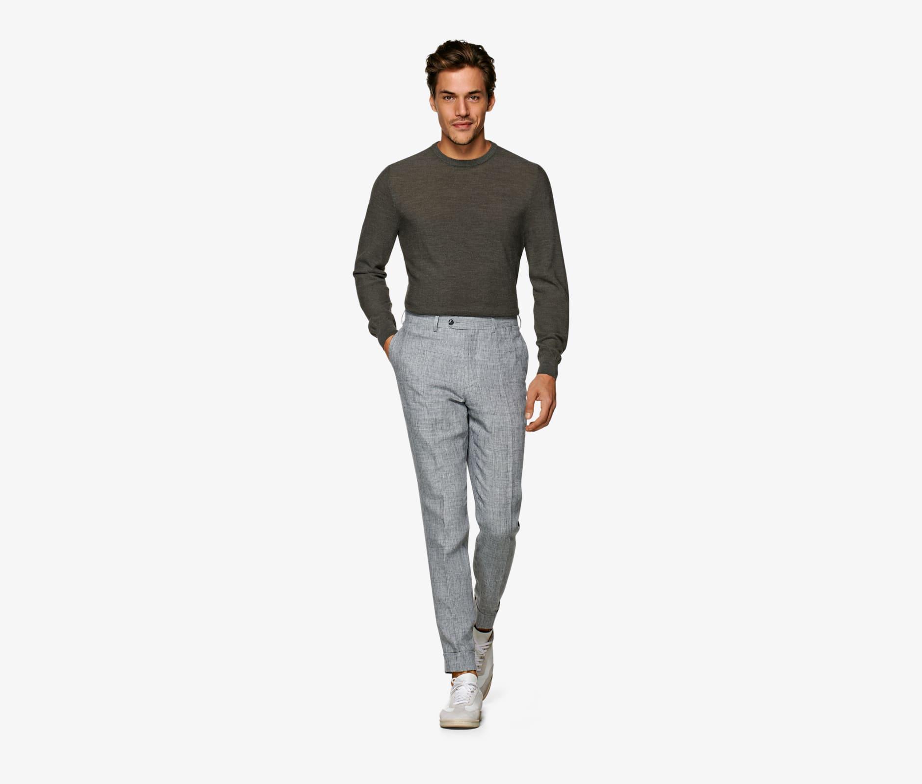 Light_Grey_Brescia_Turn_Up_Slim_Fit_Trousers_B1113I