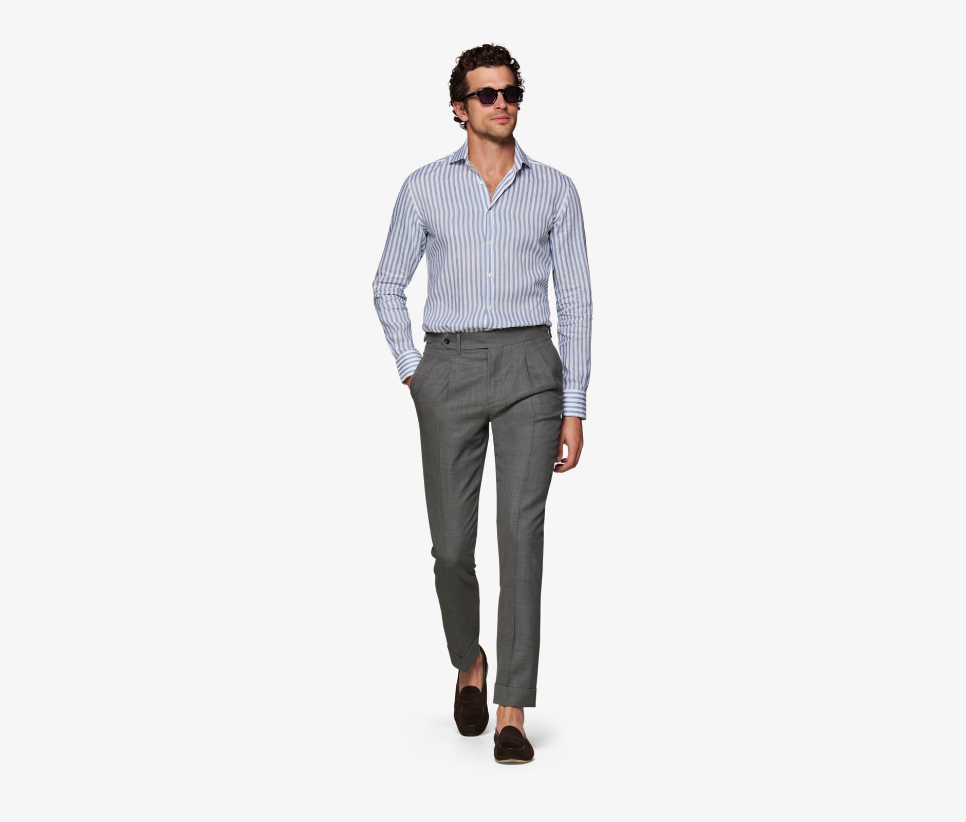 Grey_Bolzano_Double_Pleat_Trousers_B1122I