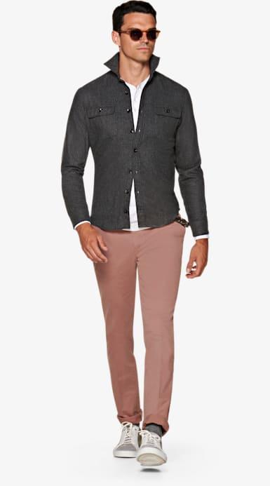 Grey Plain Overshirt