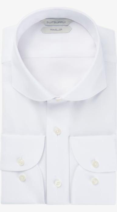 White_Traveller_Shirt_Single_Cuff_H9017U