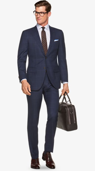 Suit_Blue_Check_Lazio_P5459I