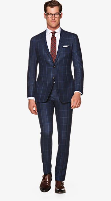 Suit_Navy_Check_Havana_P5544I