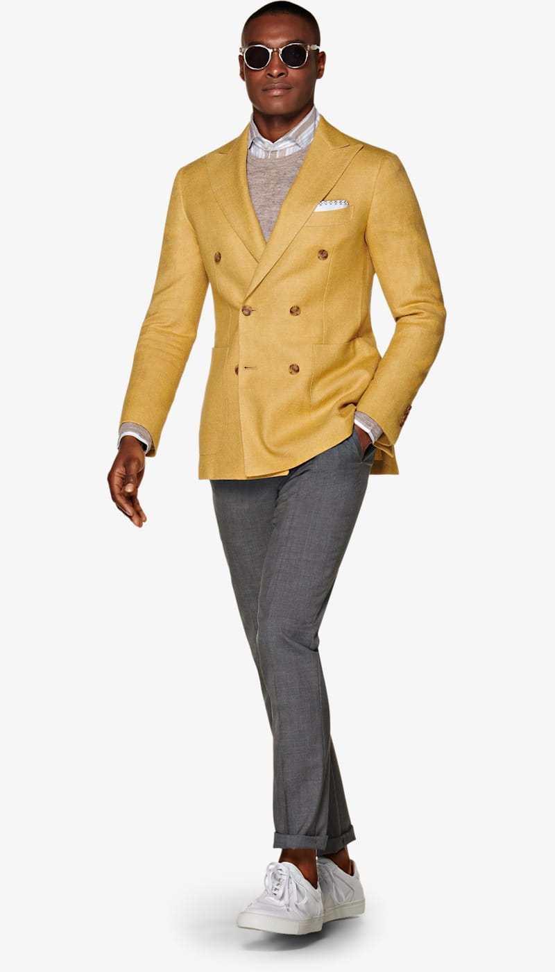 Jacket_Yellow_Plain_Havana_C1322I