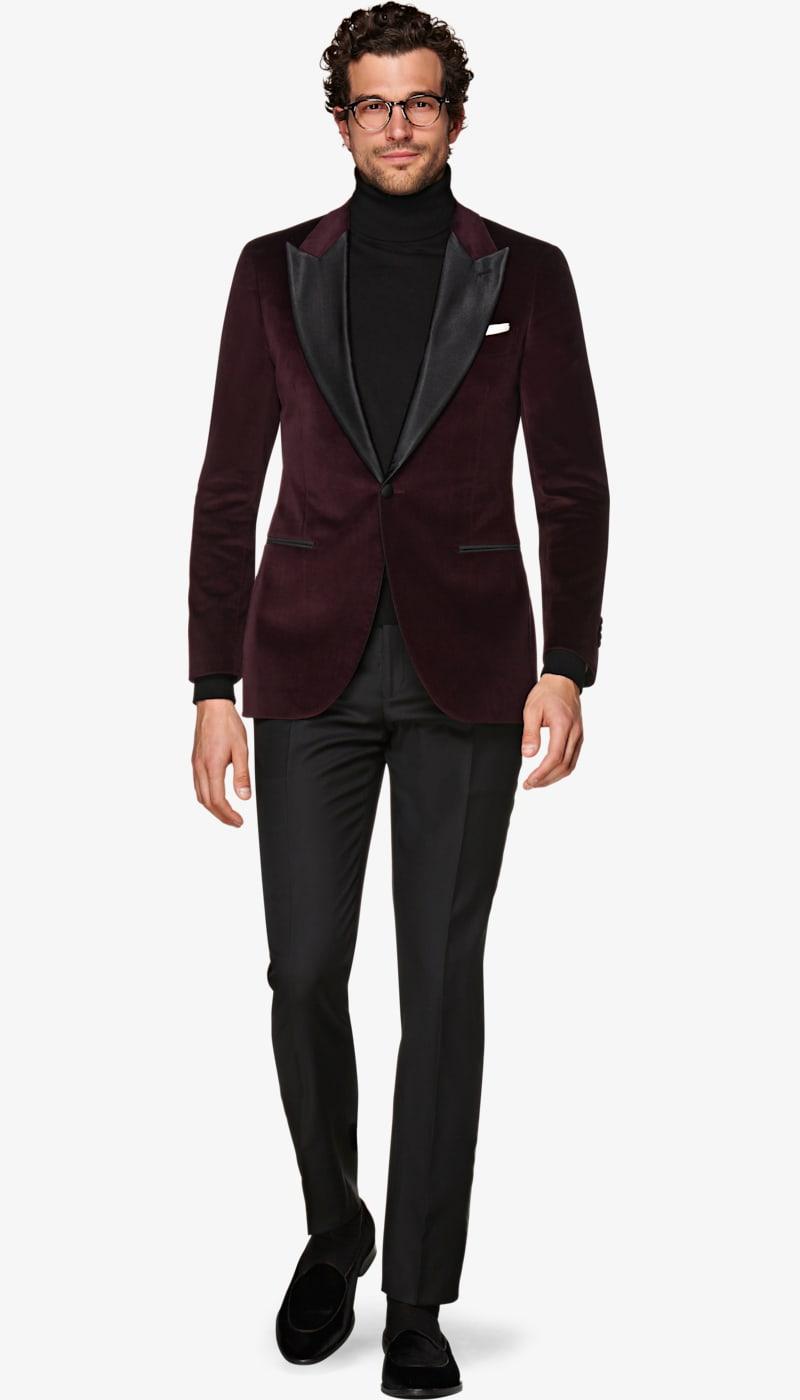 Jacket_Burgundy_Plain_Lazio_Tuxedo_C1453I