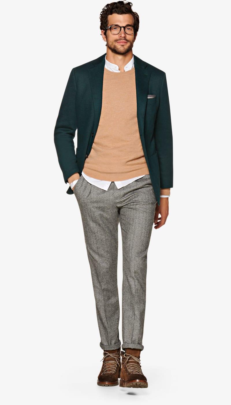 Jacket_Mid_Green_Plain_Havana_C5581I