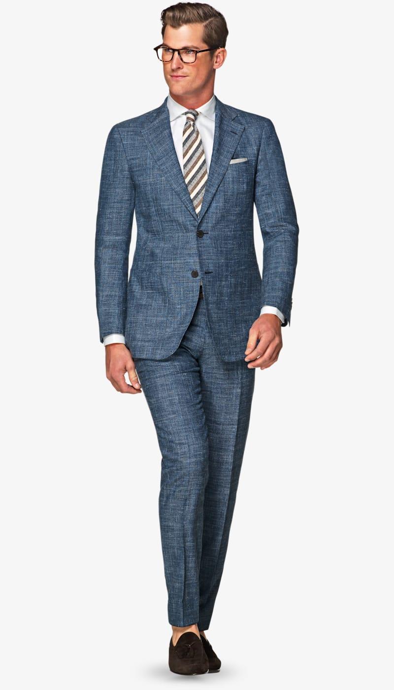 Suit_Mid_Blue_Check_Havana_P5130I