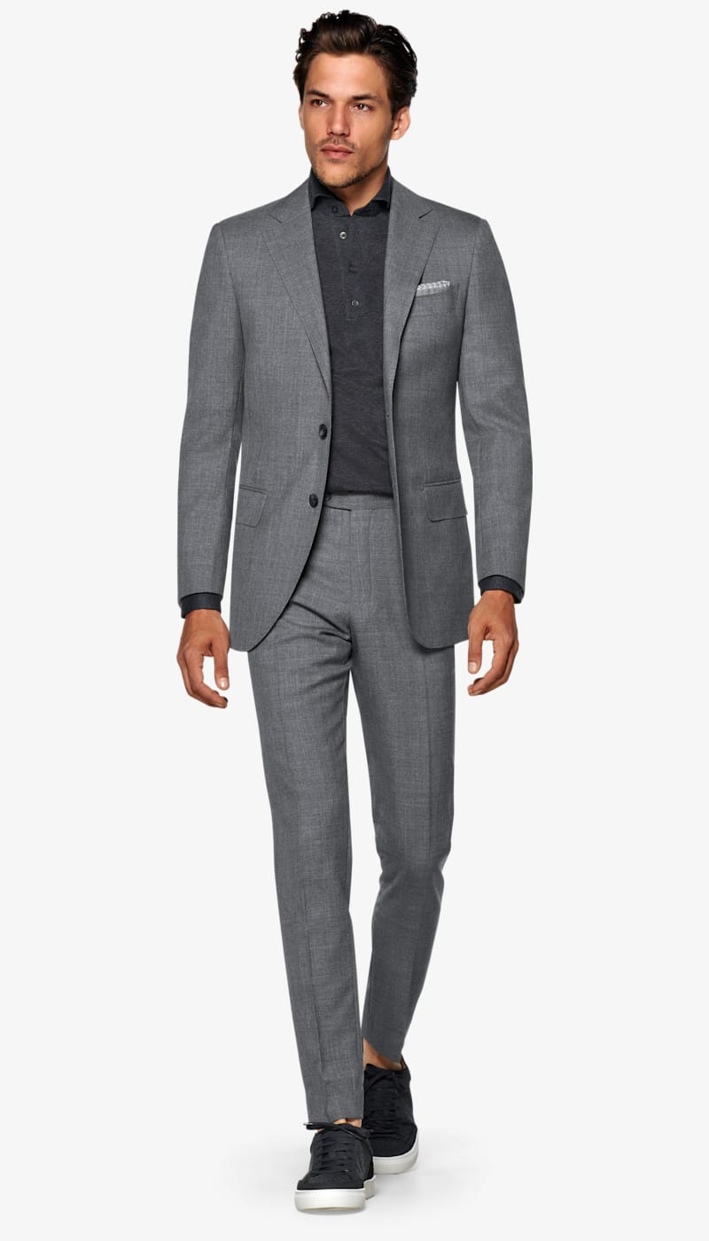 Suit Mid Grey Plain Lazio P5294 | Suitsupply Online Store