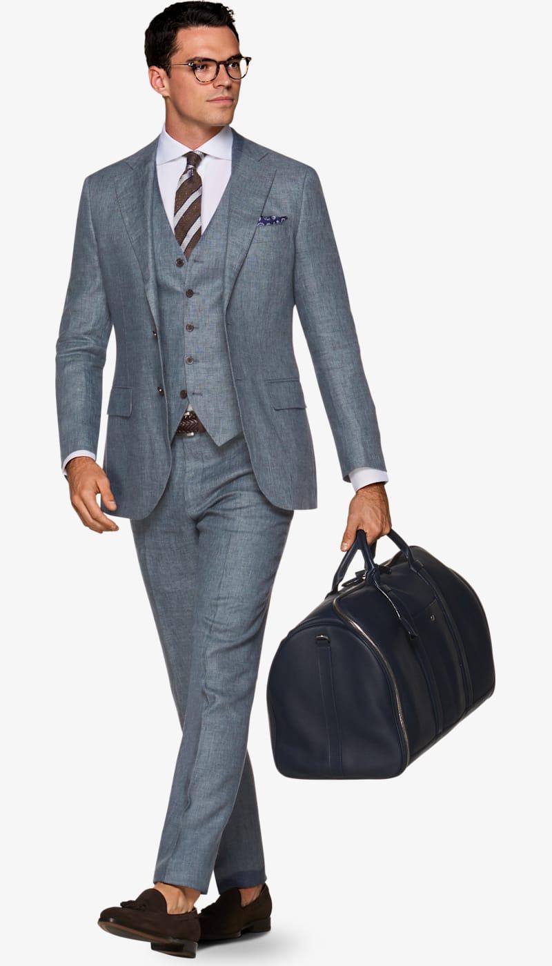 e124989262 Suit Light Blue Plain Lazio P5401 | Suitsupply Online Store
