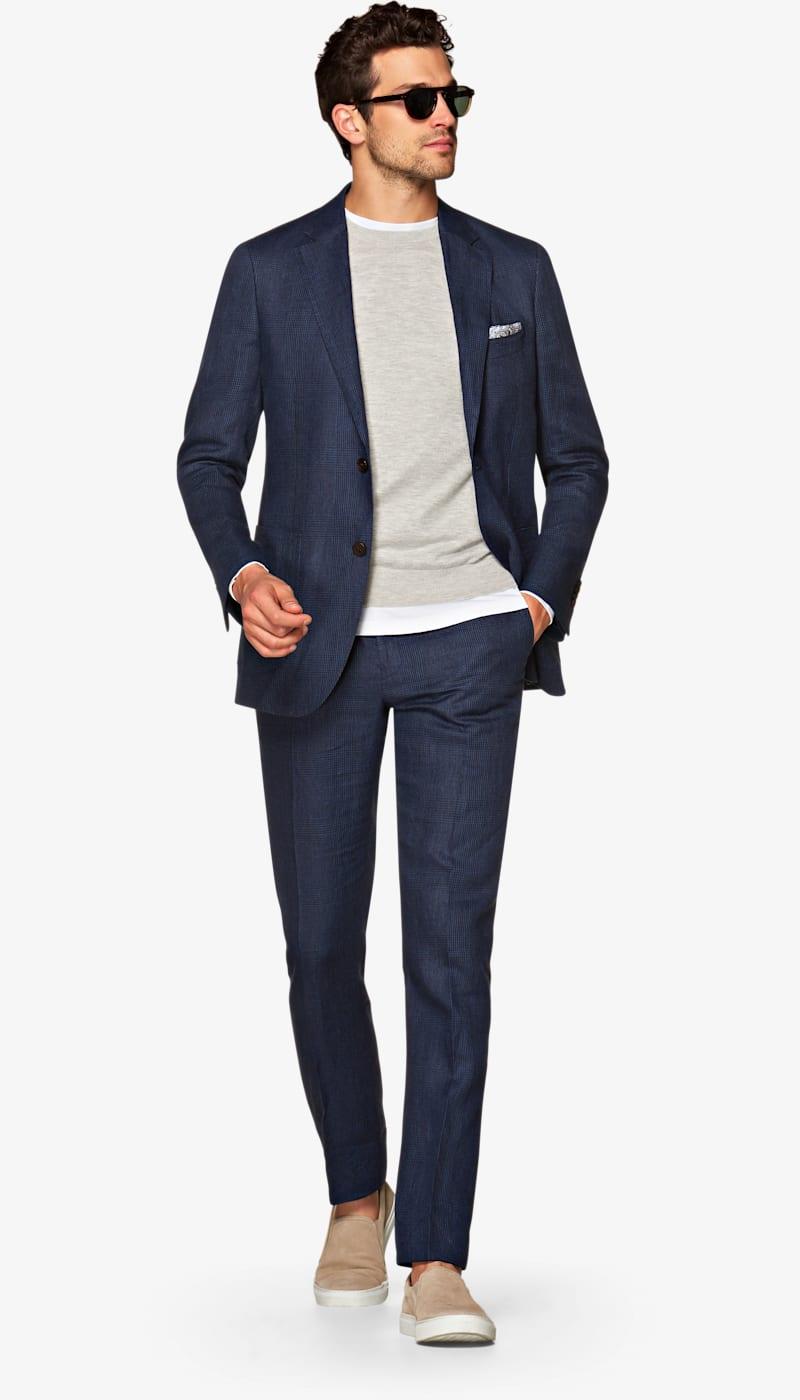 Suit_Navy_Check_Havana_P5404I