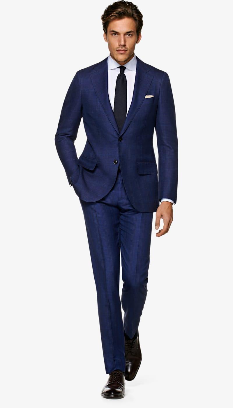 Suit_Navy_Check_La_Spalla_P5424I