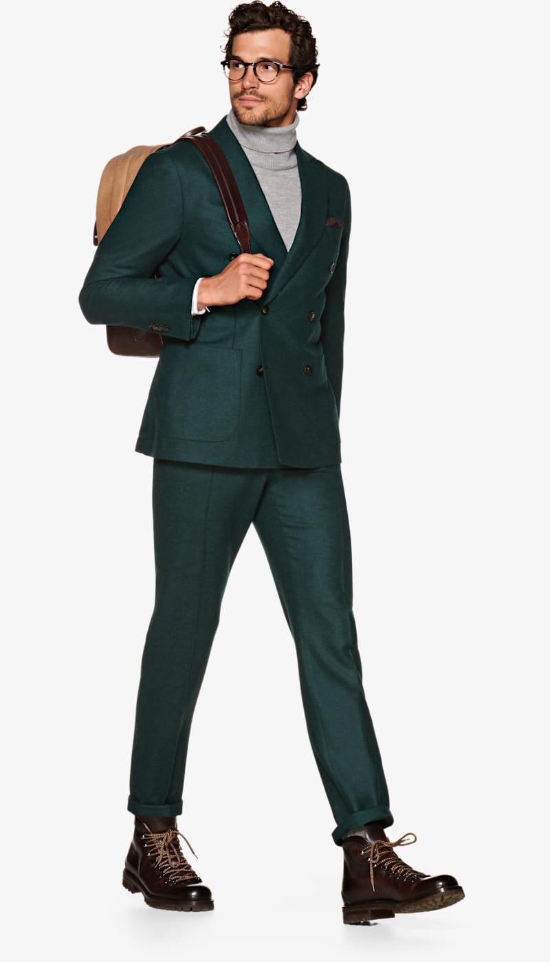 Suit_Mid_Green_Plain_Havana_P5550I
