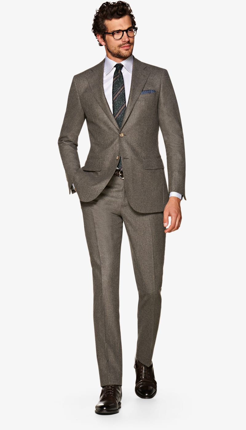 Suit_Mid_Brown_Plain_Lazio_P5551