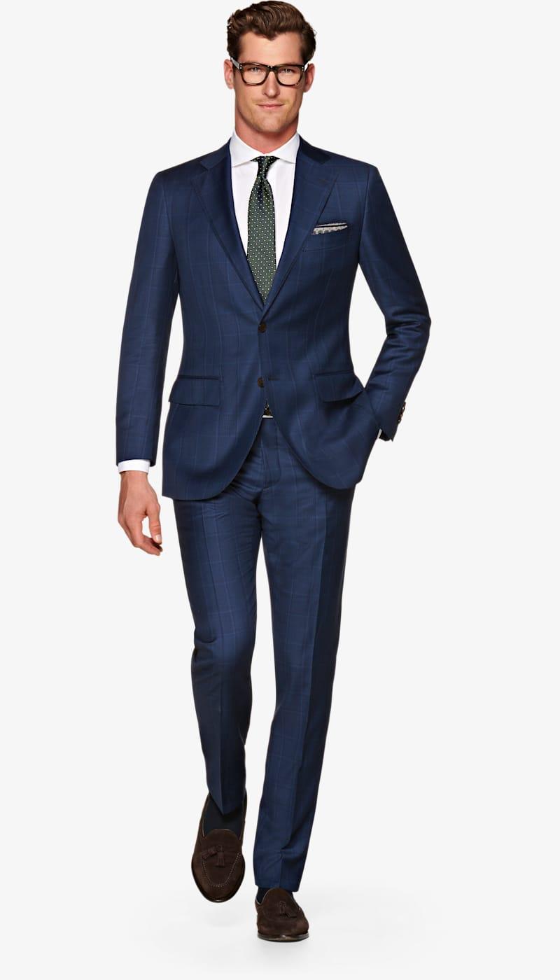 9deeecfbdc17 Suit_Mid_Blue_Check_Lazio_P5569. Video. Images. Lazio Mid Blue Check Suit  ...