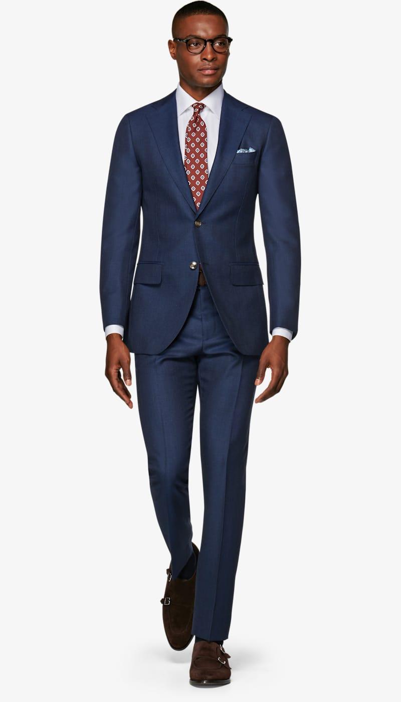 8189510ff4b8 Suit_Mid_Blue_Check_Lazio_P5573. Video. Images. Lazio Mid Blue Check Suit  ...
