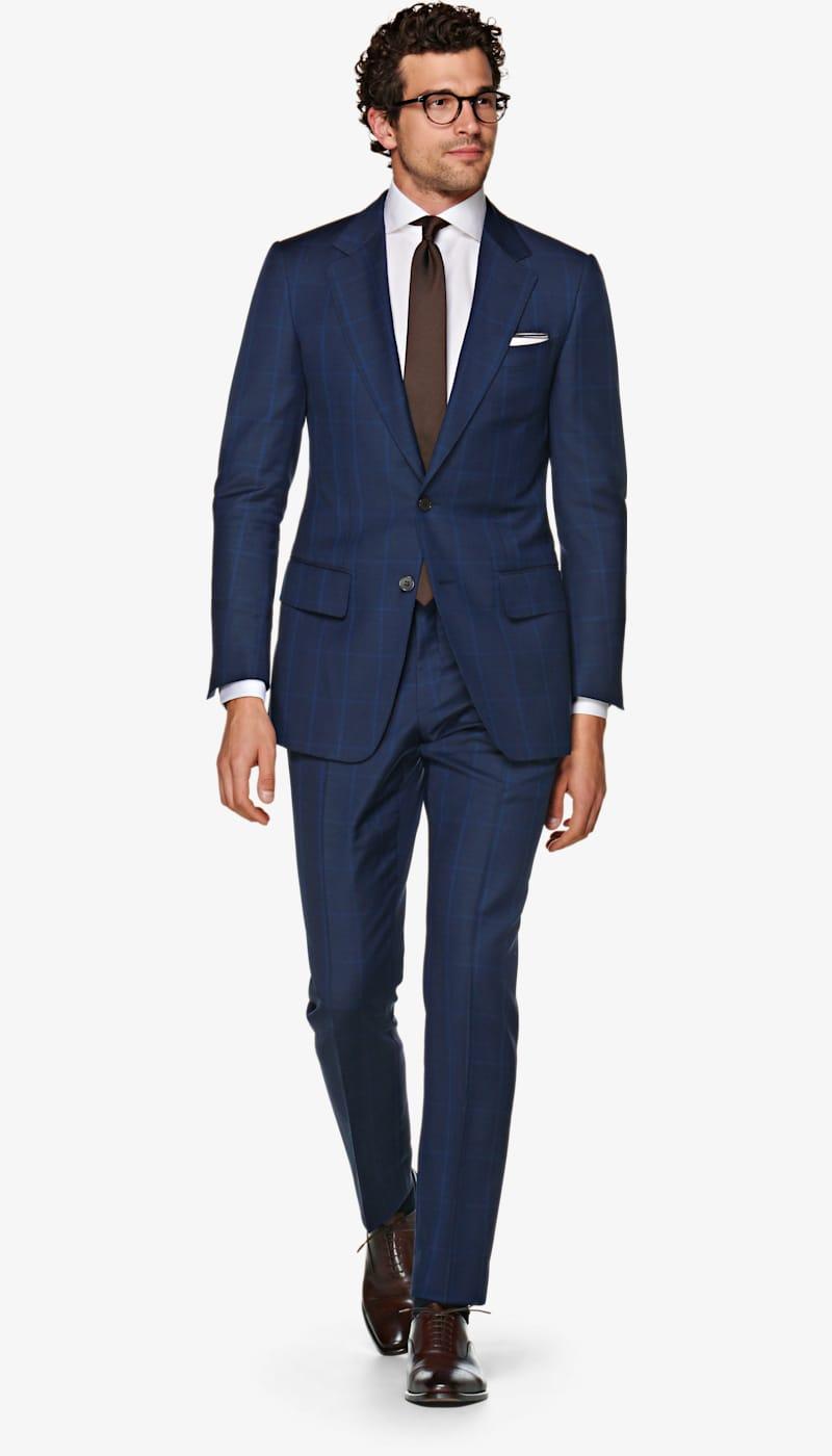Suit_Navy_Check_Washington_P5729I