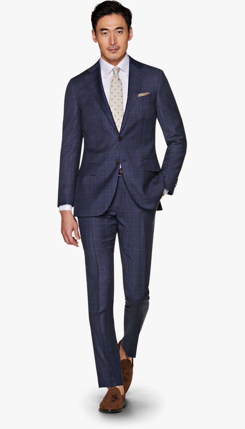 Suit_Navy_Check_Lazio_P5752I