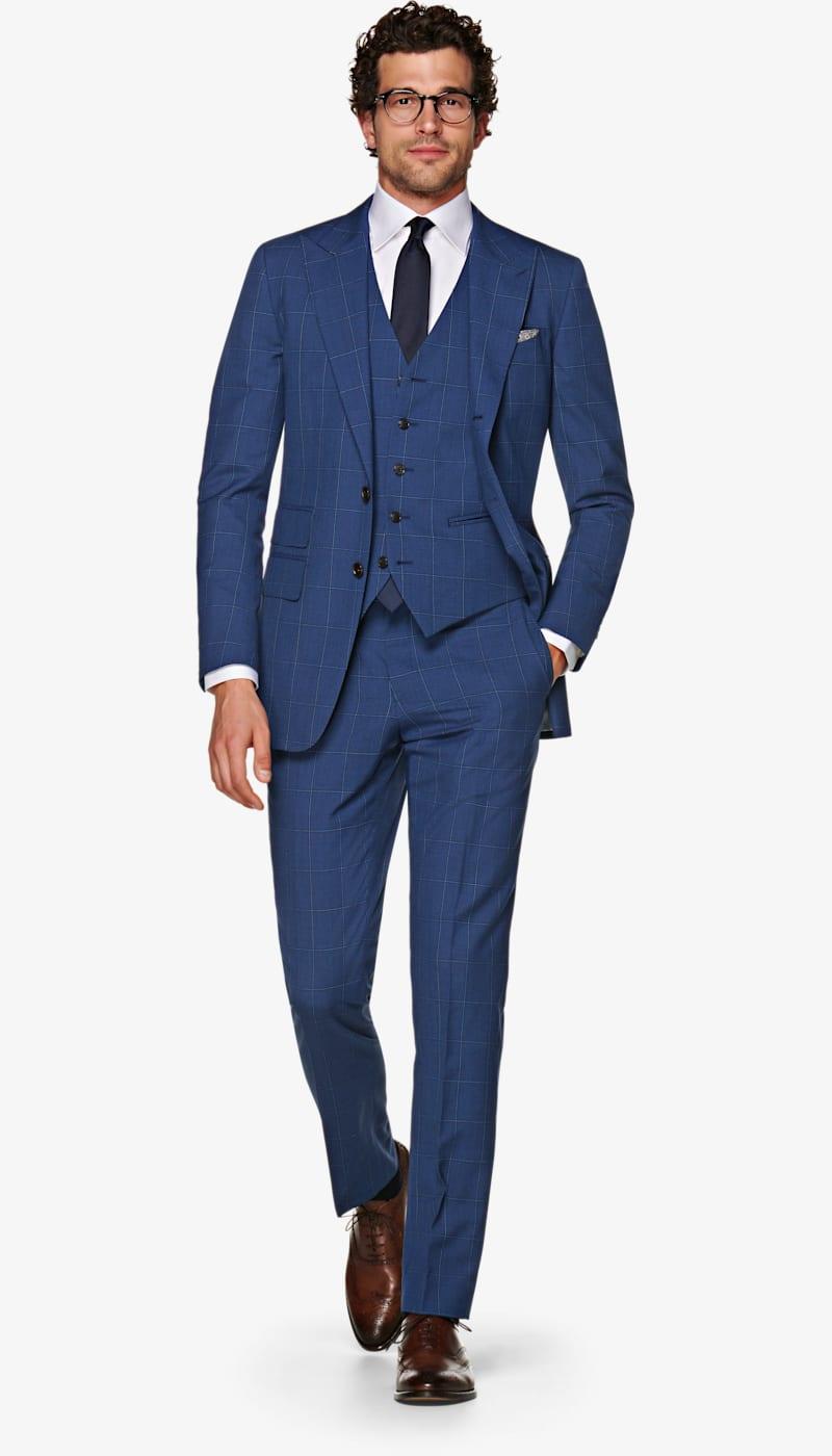 Suit_Blue_Check_Washington_P5798I