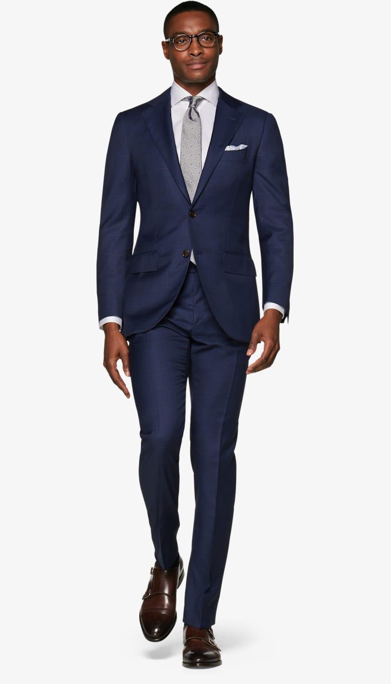 Suit_Navy_Check_Lazio_P6001I
