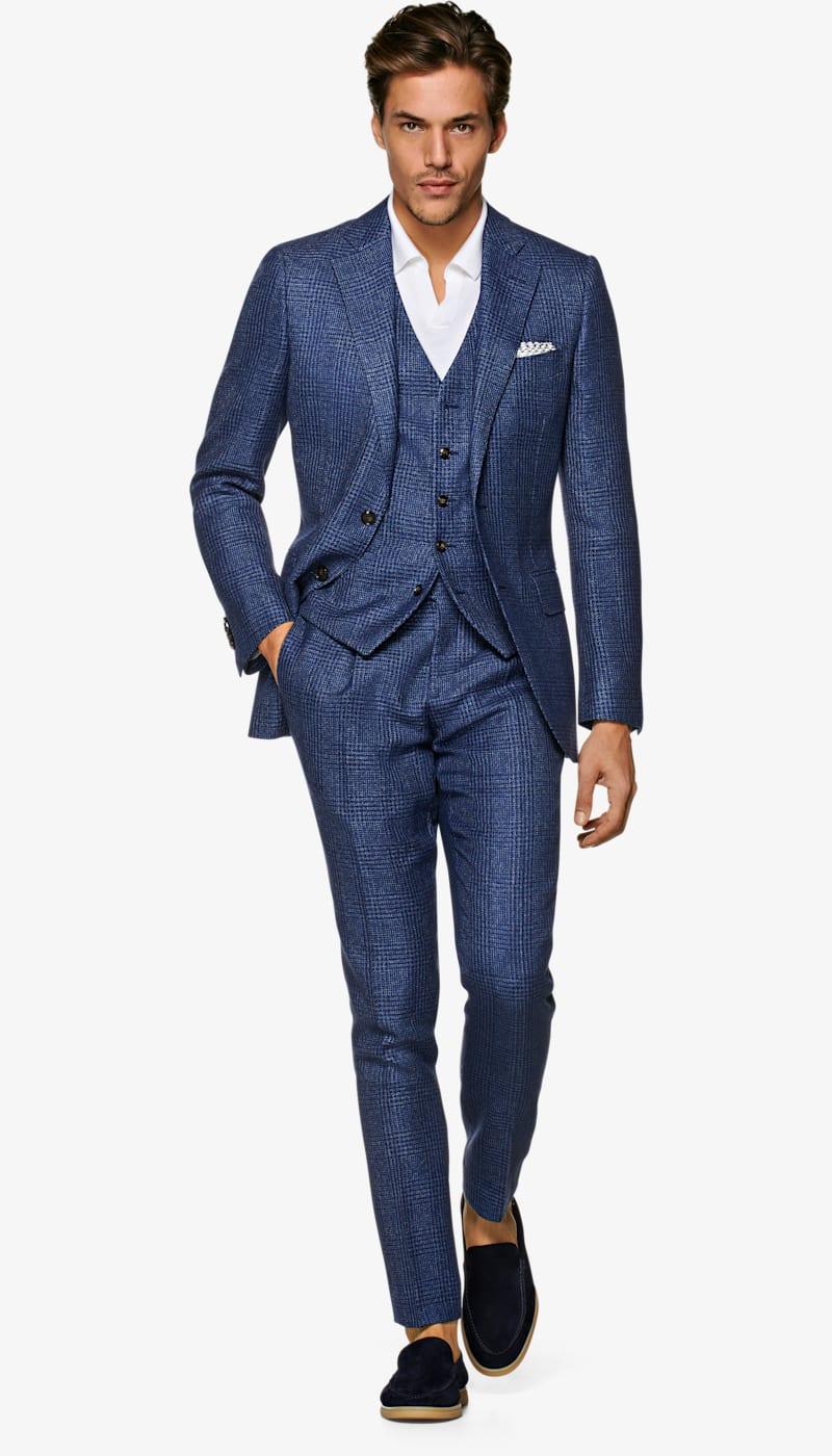 Suit_Mid_Blue_Check_Lazio_P6005MI